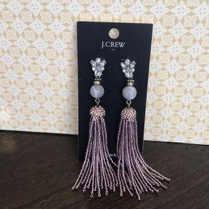 J. Crew Ivory and Rose Tassel Earrings!